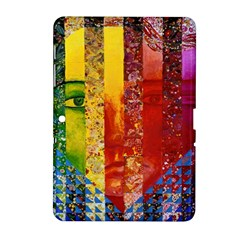 Conundrum I, Abstract Rainbow Woman Goddess  Samsung Galaxy Tab 2 (10.1 ) P5100 Hardshell Case