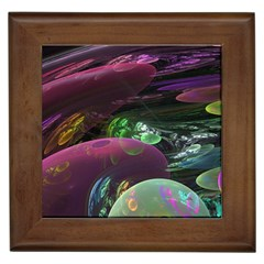 Creation Of The Rainbow Galaxy, Abstract Framed Ceramic Tile