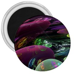 Creation Of The Rainbow Galaxy, Abstract 3  Button Magnet