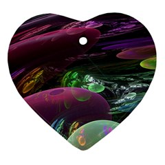 Creation Of The Rainbow Galaxy, Abstract Heart Ornament