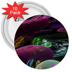 Creation Of The Rainbow Galaxy, Abstract 3  Button (10 Pack)