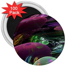 Creation Of The Rainbow Galaxy, Abstract 3  Button Magnet (100 pack)