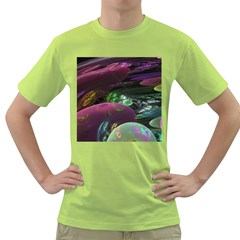 Creation Of The Rainbow Galaxy, Abstract Men s T-shirt (Green)