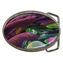 Creation Of The Rainbow Galaxy, Abstract Belt Buckle (Oval)