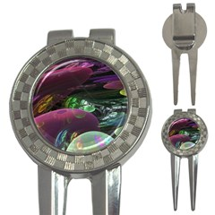 Creation Of The Rainbow Galaxy, Abstract Golf Pitchfork & Ball Marker