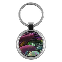 Creation Of The Rainbow Galaxy, Abstract Key Chain (round)