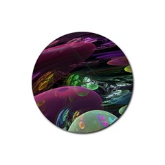 Creation Of The Rainbow Galaxy, Abstract Drink Coasters 4 Pack (Round)