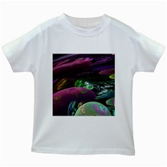 Creation Of The Rainbow Galaxy, Abstract Kids T-shirt (White)