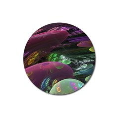 Creation Of The Rainbow Galaxy, Abstract Magnet 3  (Round)