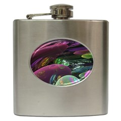 Creation Of The Rainbow Galaxy, Abstract Hip Flask