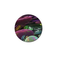 Creation Of The Rainbow Galaxy, Abstract Golf Ball Marker 4 Pack