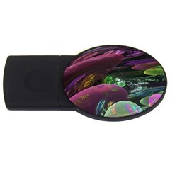 Creation Of The Rainbow Galaxy, Abstract 1GB USB Flash Drive (Oval)