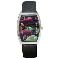 Creation Of The Rainbow Galaxy, Abstract Tonneau Leather Watch