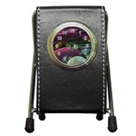 Creation Of The Rainbow Galaxy, Abstract Stationery Holder Clock Front
