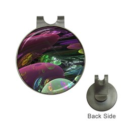 Creation Of The Rainbow Galaxy, Abstract Hat Clip with Golf Ball Marker