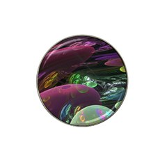 Creation Of The Rainbow Galaxy, Abstract Golf Ball Marker (for Hat Clip)