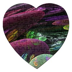 Creation Of The Rainbow Galaxy, Abstract Jigsaw Puzzle (Heart)