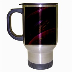 Creation Of The Rainbow Galaxy, Abstract Travel Mug (Silver Gray)