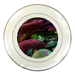 Creation Of The Rainbow Galaxy, Abstract Porcelain Display Plate