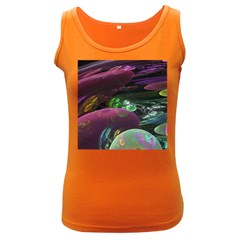 Creation Of The Rainbow Galaxy, Abstract Women s Tank Top (Dark Colored)