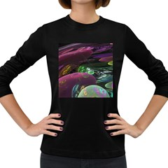 Creation Of The Rainbow Galaxy, Abstract Women s Long Sleeve T-shirt (Dark Colored)