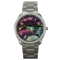 Creation Of The Rainbow Galaxy, Abstract Sport Metal Watch