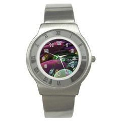 Creation Of The Rainbow Galaxy, Abstract Stainless Steel Watch (slim)