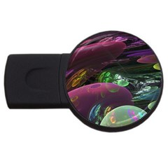 Creation Of The Rainbow Galaxy, Abstract 4gb Usb Flash Drive (round)