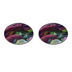 Creation Of The Rainbow Galaxy, Abstract Cufflinks (oval)