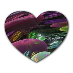 Creation Of The Rainbow Galaxy, Abstract Mouse Pad (heart)