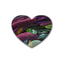 Creation Of The Rainbow Galaxy, Abstract Drink Coasters 4 Pack (Heart)