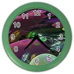 Creation Of The Rainbow Galaxy, Abstract Wall Clock (color)
