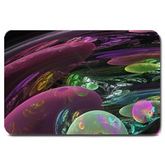 Creation Of The Rainbow Galaxy, Abstract Large Door Mat