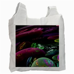Creation Of The Rainbow Galaxy, Abstract White Reusable Bag (Two Sides)