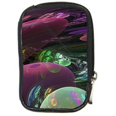 Creation Of The Rainbow Galaxy, Abstract Compact Camera Leather Case