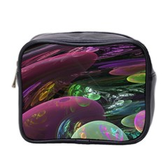Creation Of The Rainbow Galaxy, Abstract Mini Travel Toiletry Bag (Two Sides)