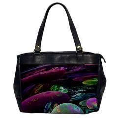 Creation Of The Rainbow Galaxy, Abstract Oversize Office Handbag (One Side)