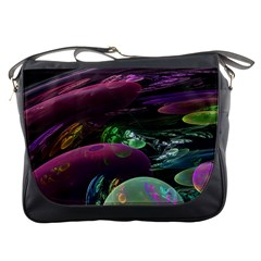 Creation Of The Rainbow Galaxy, Abstract Messenger Bag