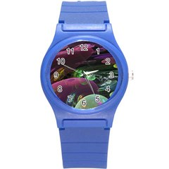 Creation Of The Rainbow Galaxy, Abstract Plastic Sport Watch (Small)