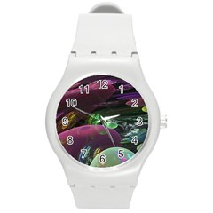 Creation Of The Rainbow Galaxy, Abstract Plastic Sport Watch (Medium)
