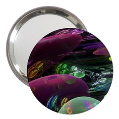 Creation Of The Rainbow Galaxy, Abstract 3  Handbag Mirror