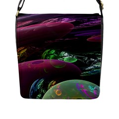 Creation Of The Rainbow Galaxy, Abstract Flap Closure Messenger Bag (large)