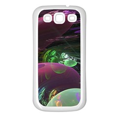 Creation Of The Rainbow Galaxy, Abstract Samsung Galaxy S3 Back Case (White)