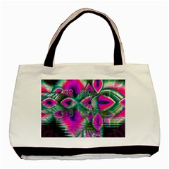 Crystal Flower Garden, Abstract Teal Violet Classic Tote Bag