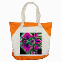 Crystal Flower Garden, Abstract Teal Violet Accent Tote Bag