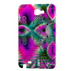 Crystal Flower Garden, Abstract Teal Violet Samsung Galaxy Note 1 Hardshell Case