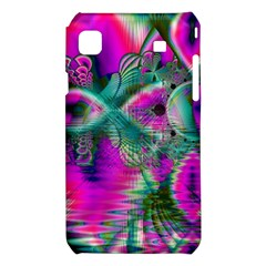 Crystal Flower Garden, Abstract Teal Violet Samsung Galaxy S i9008 Hardshell Case
