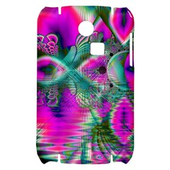 Crystal Flower Garden, Abstract Teal Violet Samsung S3350 Hardshell Case