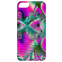 Crystal Flower Garden, Abstract Teal Violet Apple iPhone 5 Classic Hardshell Case