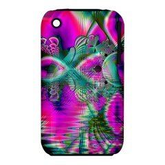 Crystal Flower Garden, Abstract Teal Violet Apple Iphone 3g/3gs Hardshell Case (pc+silicone)